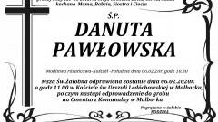 Zmarła Danuta Pawłowska. Żyła 65 lat.