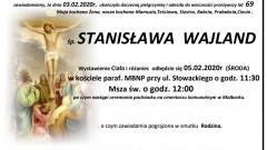 Zmarła Stanisława Wajland. Żyła 69 lat.