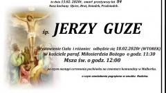 Zmarł Jerzy Guze. Żył 84 lata.