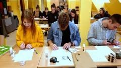 """Klasa politechniczno - architektoniczna z II LO z Malborka w programie """"Kształtowanie przestrzeni""""."""