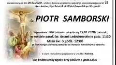 Zmarł Piotr Samborski. Żył 39 lat.