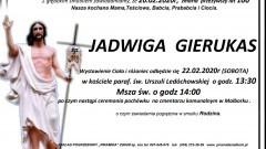 Zmarła Jadwiga Gierukas. Żyła 100 lat.