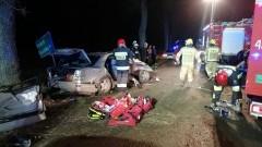 AKTUALIZACJA. Kierowca mercedesa pijany. Nocna akcja ratowników pod Tralewem.