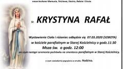 Zmarła Krystyna Rafał. Żyła 64 lata.