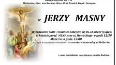 Zmarł Jerzy Masny. Żył 73 lata.
