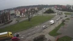 Kolizja drogowa z udziałem ciężarówki na Alei Rodła w Malborku.