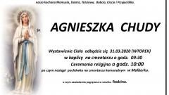 Zmarła Agnieszka Chudy. Żyła 66 lat.