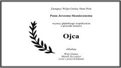 Wójt Gminy Stare Pole, Marek Szczypior wraz z pracownikami składa kondolencje.