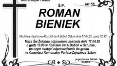 Zmarł Roman Bieniek. Żył 58 lat.