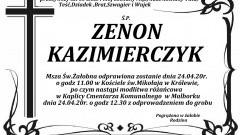 Zmarł Zenon Kazimierczyk. Żył 60 lat.