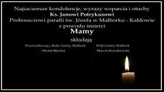 Wójt i Przewodniczący Rady Gminy Malbork składają kondolencje.