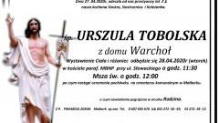 Zmarła Urszula Tobolska. Żyła 71 lat.