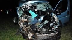 Dwie osoby trafiły do szpitala po zderzeniu z łosiem na A1.