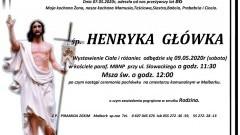 Zmarła Henryka Główka. Żyła 86 lat.