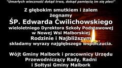 Wójt Gminy Malbork i pracownicy Urzędu, Przewodniczący Rady, Radni i Sołtysi Gminy Malbork składają kondolencje.