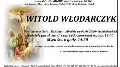 Zmarł Witold Włodarczyk. Żył 62 lata.