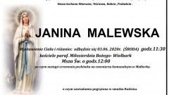 Zmarła Janina Malewska. Żyła 97 lat.