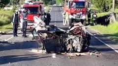 Zignorowała drogową kontrolę i spowodowała wypadek.