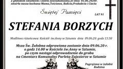 Zmarła Stefania Borzych. Żyła 91 lat.