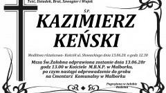 Zmarł Kazimierz Keński. Żył 64 lata.