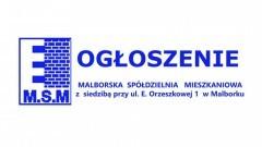 Ogłoszenie o sprzedaży lokalu użytkowego w budynku na Os. Stare Miasto 20E w Malborku