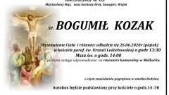 Zmarł Bogumił Kozak. Żył 65 lat.