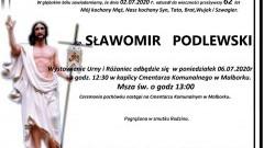 Zmarł Sławomir Podlewski. Żył 62 lata.
