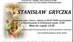 Zmarł Stanisław Gryczka. Żył 86 lat.