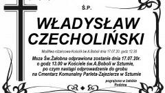 Zmarł Władysław Czecholiński. Żył 68 lat.