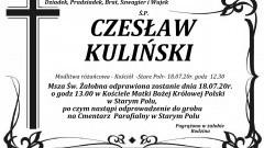 Zmarł Czesław Kuliński. Żył 68 lat.