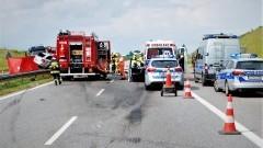 Autostrada A1. Pasażer osobówki zginął na miejscu.