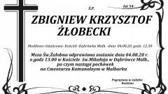 Zmarł Zbigniew Krzysztof Żłobecki. Żył 54 lata.