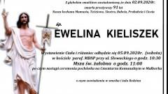 Zmarła Ewelina Kieliszek. Żyła 91 lat.