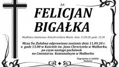 Zmarł Felicjan Bigałka. Żył 90 lat.