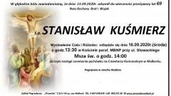 Zmarł Stanisław Kuśmierz. Żył 69 lat.