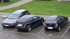 Mistrz (nie tylko) parkowania na osiedlu Południe w Malborku.