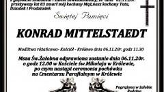 Zmarł Konrad Mittelstaedt. Żył 83 lata.