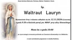 Zmarła Waltraut Lauryn. Żyła 93 lata.