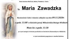 Zmarła Maria Zawadzka. Żyła 95 lat.