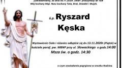 Zmarł Ryszard Kęska. Żył 69 lat.