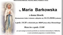 Zmarła Maria Barkowska. Żyła 98 lat.