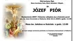 Zmarł Józef Piór. Żył 73 lata.