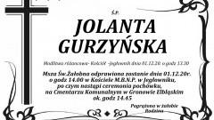 Zmarła Jolanta Gurzyńska. Żyła 52 lata.