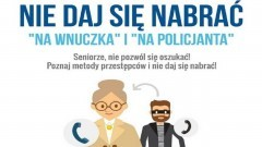 """Apel policjantów – uważajcie na oszustów działających metodą """"na wnuczka"""" i """"na policjanta""""."""