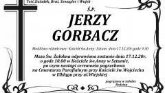 Zmarł Jerzy Gorbacz. Żył 81 lat.