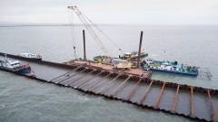 Grudzień na budowie drogi wodnej łączącej Zalew Wiślany z Zatoką Gdańską [wideo, zdjęcia]