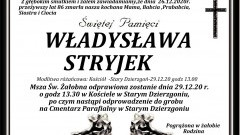 Zmarła Władysława Stryjek. Żyła 86 lat.