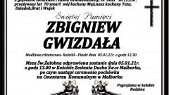 Zmarł Zbigniew Gwizdała. Żył 70 lat.