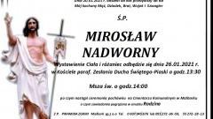 Zmarł Mirosław Nadworny. Żył 68 lat.