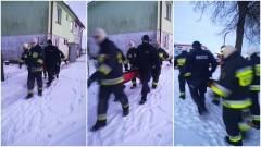 Sztum. Policjanci uratowali mężczyznę przed zamarznięciem.
